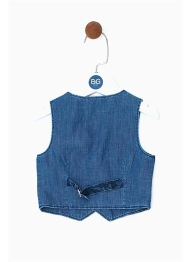 BG Baby Erkek Bebek Desenli Yelek 19Ss0Bg1701 Renkli